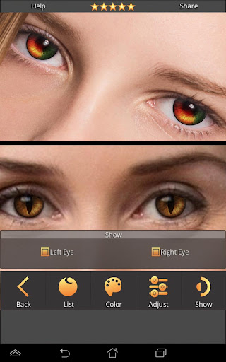 FoxEyes - Change Eye Color by Real Anime Style screenshot 1