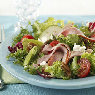 Chopped Salad with Ham and Goat Cheese.