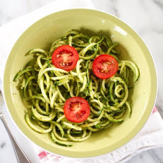 Zucchini Noodle Pesto Pasta.