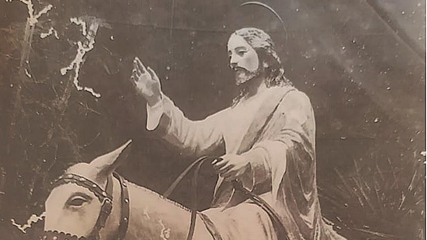 La Borriquita  de Gálvez Ferrer, la imagen que procesionó en el Lunes Santo .