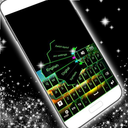 个人化のネオンスターキーボード LOGO-記事Game