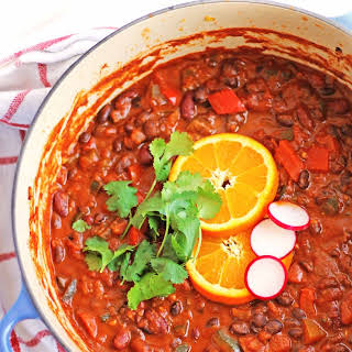 Spicy Bean Chili With Orange And Cinnamon.