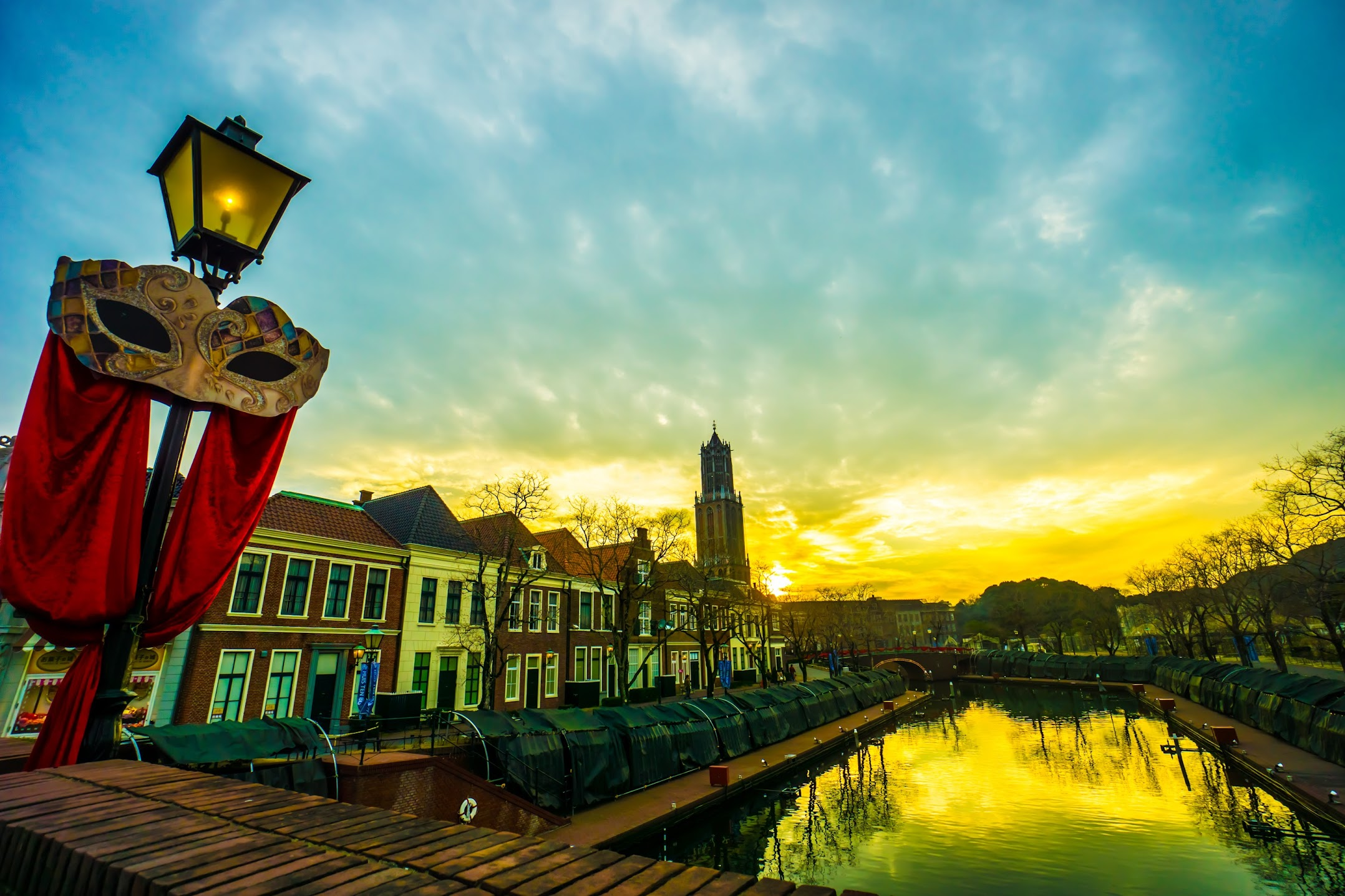 Huis Ten Bosch sundown