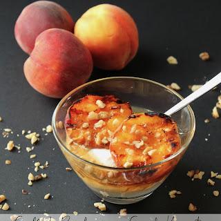 Grilled Peaches with Greek Yogurt, Honey and Walnuts #SummerDesserts