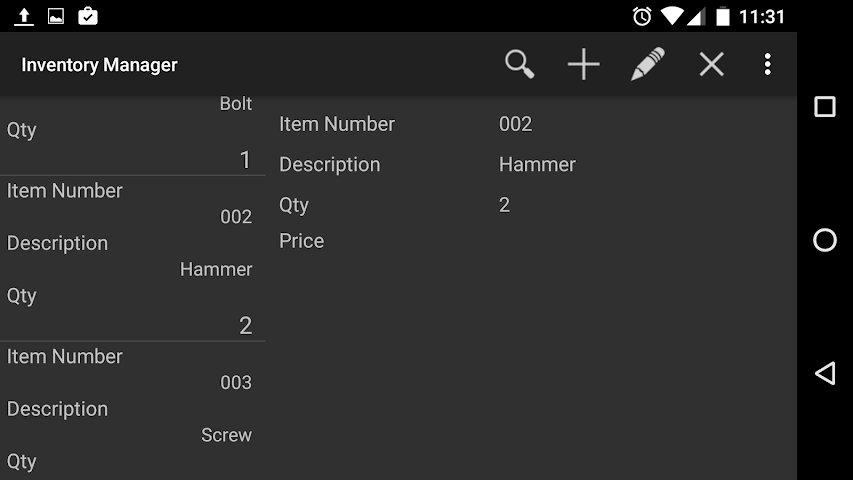 android Inventory Manager Screenshot 6