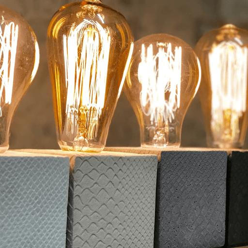 collection lampe béton imprimé croco
