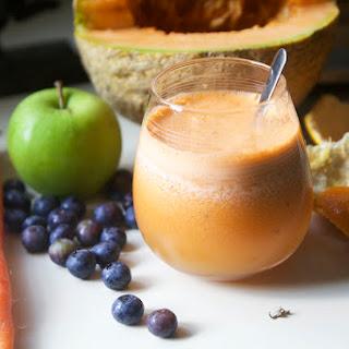 Cantaloupe Blueberry Juice