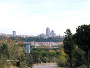 Vista de Madrid desde el cerro de El Telesférico