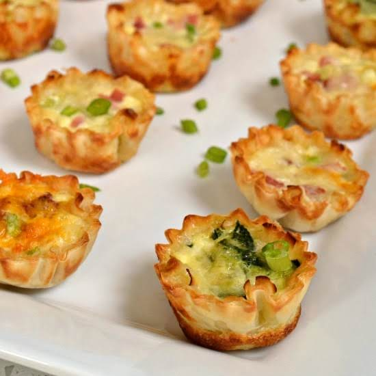 Mini Quiche On Serving Tray