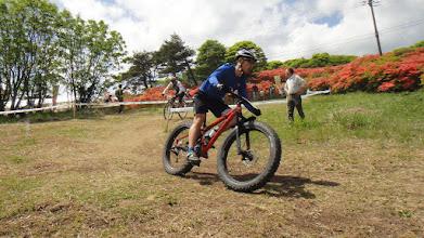 Photo: 今年はファットも数台いましたね。 まどかではこの自転車試乗させてもらいました。 わってぃ、今週もお疲れ様&すごいねー。