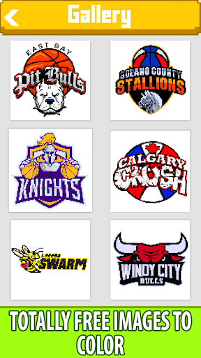 Download Basketball Logo Color by Number:Pixel Art Coloring 1.6 1