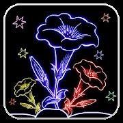 Draw Glow Flowers