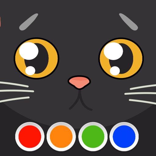 教育App|着色 - ねこ LOGO-3C達人阿輝的APP