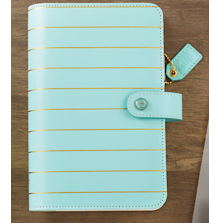 Websters Pages Personal Planner Kit - Blue W/Gold Stripe UTGÅENDE
