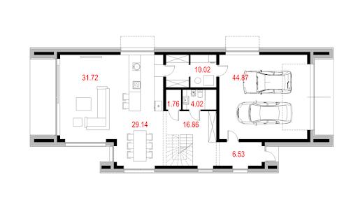 House X06 - Rzut parteru