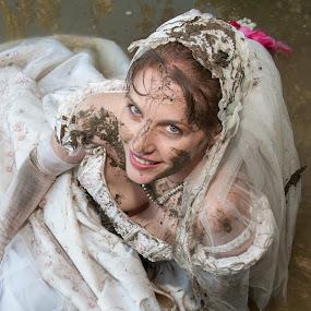 Amy 13 by Carter Keith - Wedding Bride ( rock the frock, muddy dresses, wedding dresses, brides, wet brides, trash the dress, muddy brides,  )