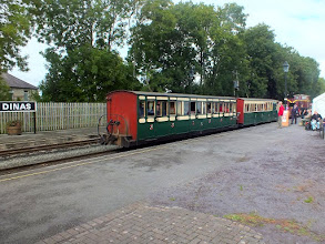 "Photo: 023 A pair of ""full size Ratio bashes"" aka Ffestiniog Victorian era compartment coaches, looking splendid at Dinas ."