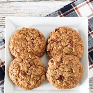 Gluten Free Vegan Maple Pecan Oatmeal Cookies.