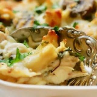 Easy Chicken Mushroom Marsala Pasta.