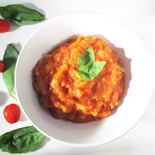Quick Homemade Tomato Sauce.