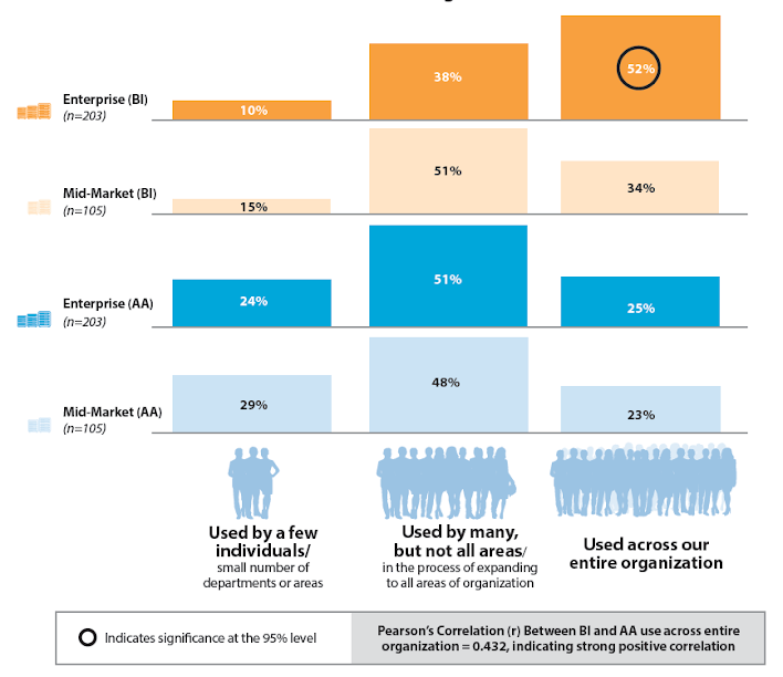 Figure 1: Use of BI Within Organization