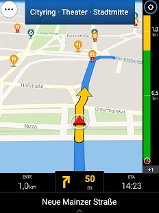 CoPilot Westeuropa Navigation Screenshot