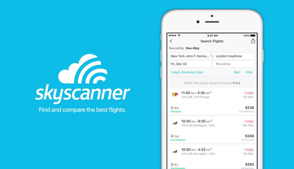 Картинки по запросу skyscanner app