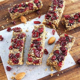 Cranberry Chia Energy Bars (Raw, Vegan, Gluten Free)