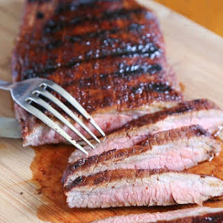 Grilled Flank Steak with Brown Sugar Rub.