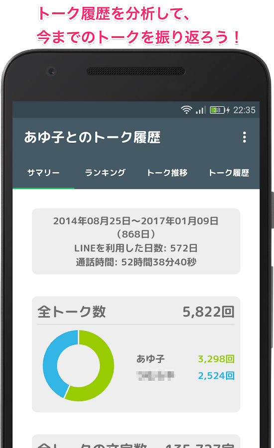 トーク分析 for LINE - L.Checker- screenshot