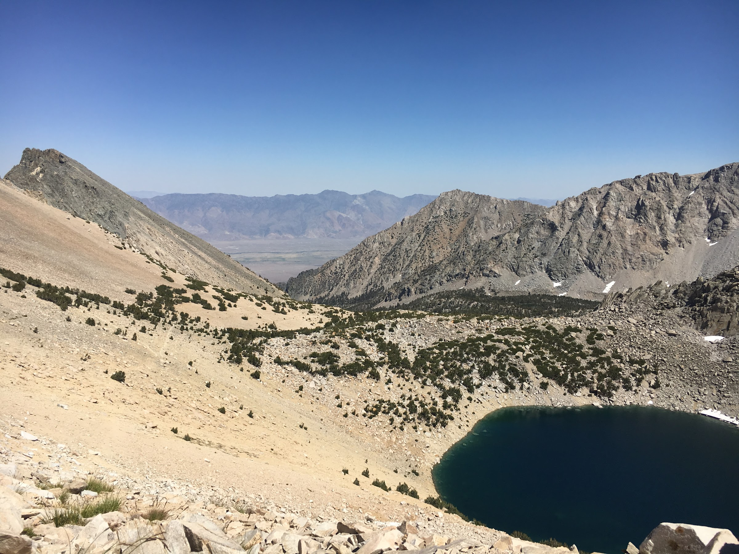 Headed back to civilization via Kearsarge Pass