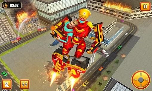 Firefighter Robot Transform Truck: Rescue Hero 2