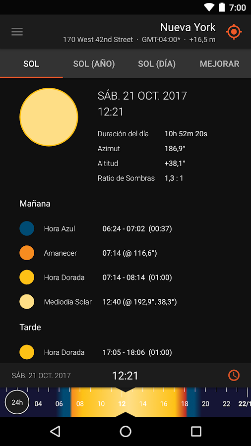 Sun Surveyor Lite (Brújula): captura de pantalla