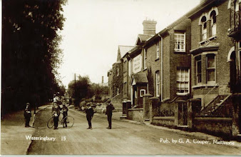 Photo: Bow Road looking towards the Cross Roads standing in what is now the entrance to Glebe Meadow