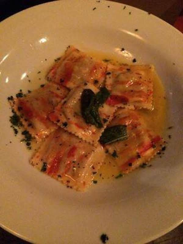 Cheese Ravioli With Pumpkin Sage Sauce Recipe