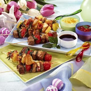 Chicken and Lamb Kebabs.