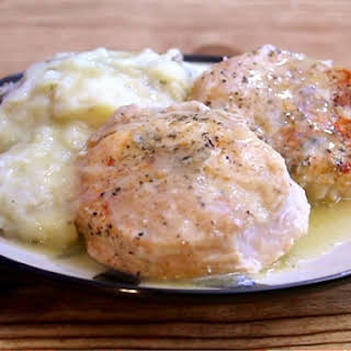 Pressure Cooker Pork Chops, Smashed Potatoes and Gravy.