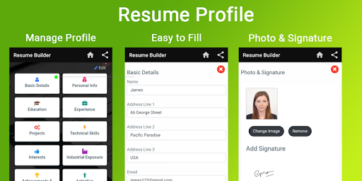 Curriculum vitae App CV Builder Resume CV Maker 5.0 screenshots 2