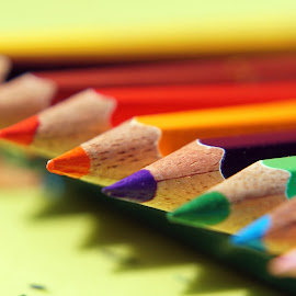 The point of color pencils  by Mihir Ranjan - Artistic Objects Other Objects ( macro, color pencils, the macro of color pencil's point., artistic objects, close-up, the point of color pencils )