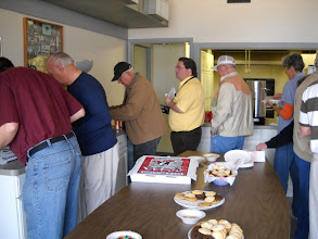 Photo: Pizza was supplied by Paradise Bay. Other snacks and treats were also provided for RRA Members.