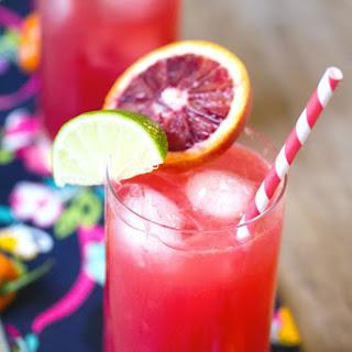 Blood Orange Habanero Cocktail.