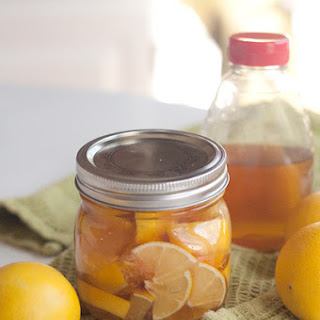 Lemon, Honey, and Ginger Soother for Colds and Sore Throats.