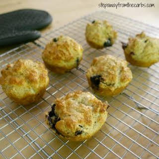 Low Carb Blueberry Muffins.
