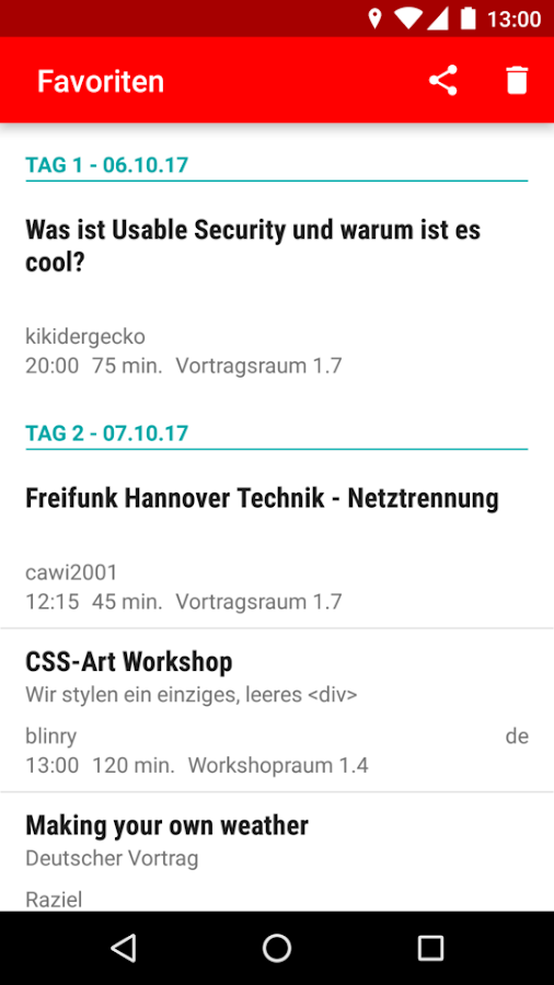 Hackover 2017 Programm- screenshot