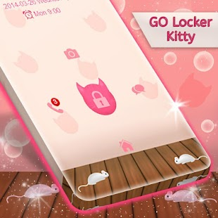 Kitty Lock Screen Téma - náhled