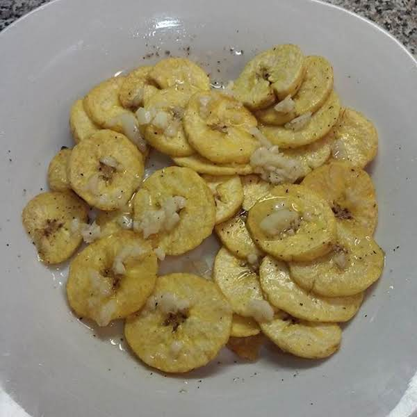 Homemade Mariquitas.aka Fried Green Plantain Chips Recipe