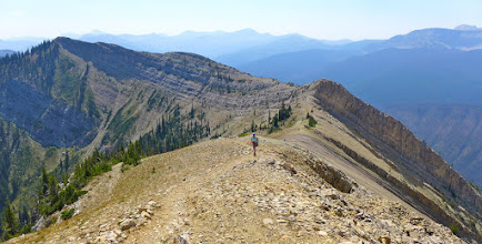 Photo: The trail switch-backs up Honeymoon Basin (on left) and then follows this ridge to the lookout.