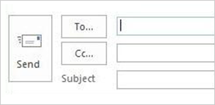 Send email options in 2013 version