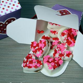 White Chocolate & Almond Butter Valentine's Hearts