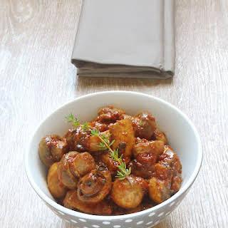 Sauteed Mushrooms Tomato Sauce.